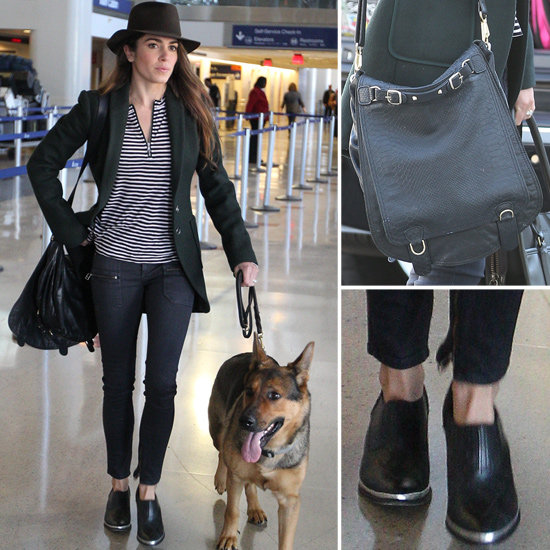 Steal Nikki Reed's polished travel style — right down to the bag.