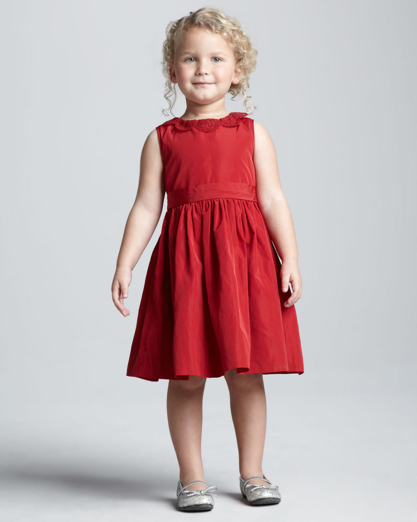 Jason Wu's ruby-red lace-trim dress ($60) will dress her up for the holidays and beyond.