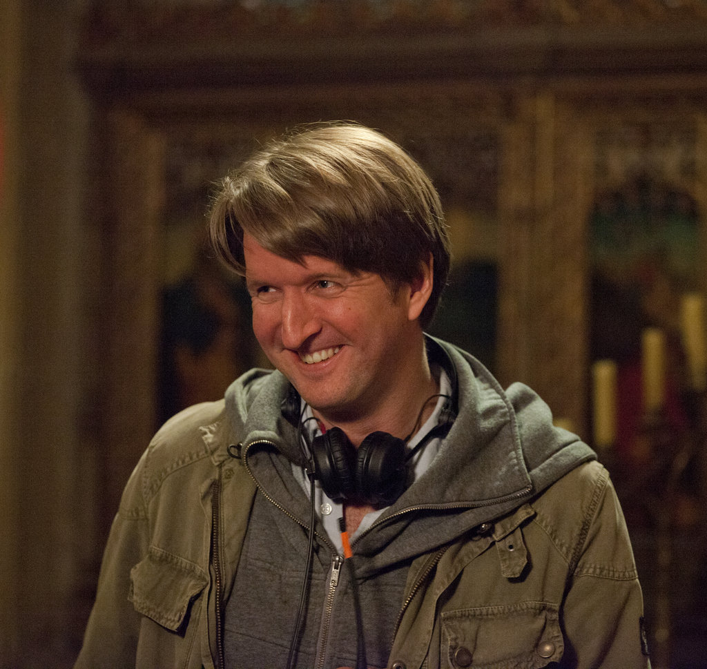 Director Tom Hooper on the set of Les Misérables.