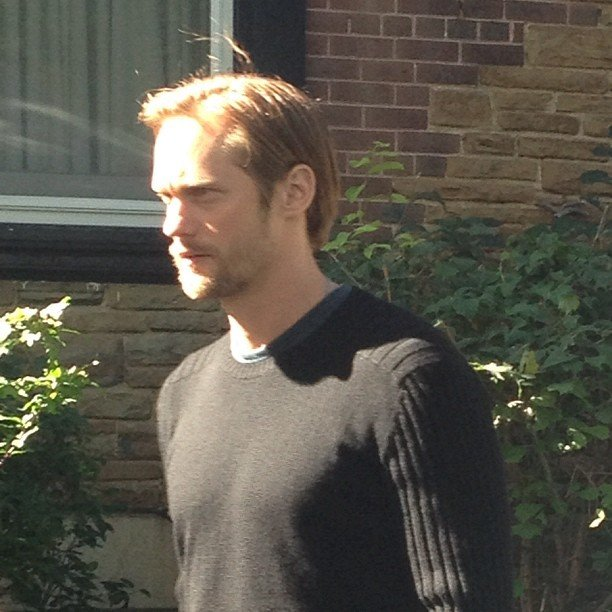 We caught a profile shot of the very dreamy Alexander Skarsgard during a break at this year's Toronto International Film Festival.
