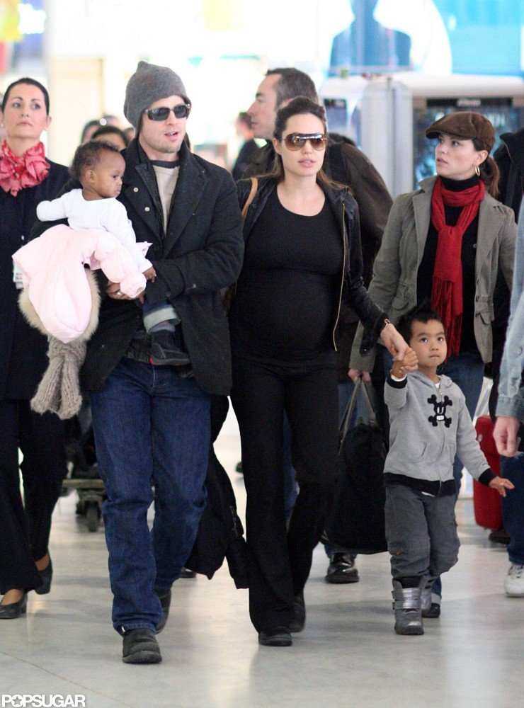 Brad Pitt and Angelina Jolie spent March 2006 in Paris with Zahara and Maddox.