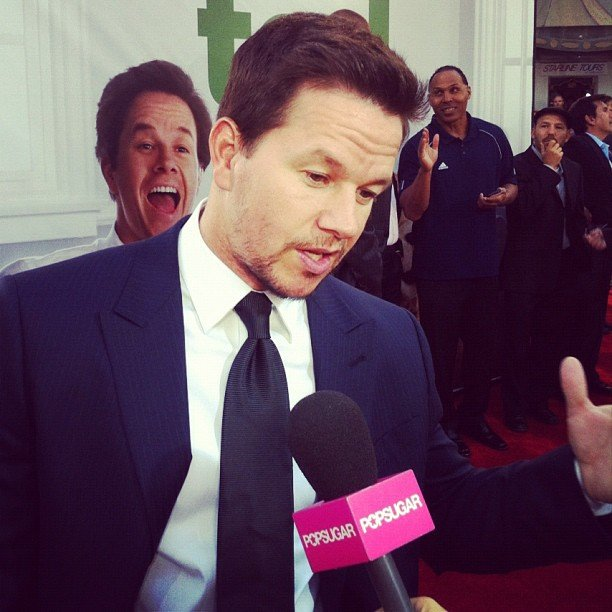 Mark Wahlberg looked handsome as ever at the LA premiere of Ted.