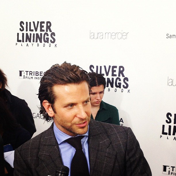 Bradley Cooper's blue shirt really brought out his stunning cobalt eyes at the NYC Silver Linings Playbook premiere in November.
