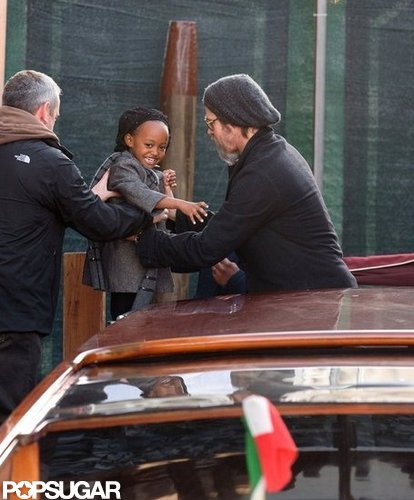 Zahara was silly with Brad Pitt in Venice in February 2010.
