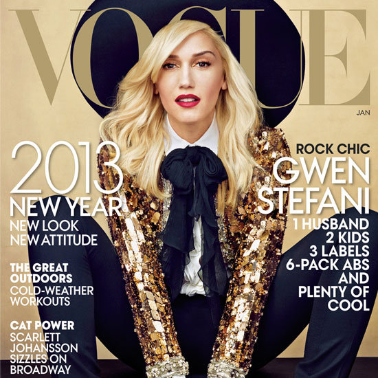 Gwen Stefani on Vogue January 2013 Cover