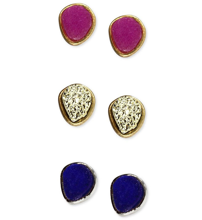 Rachel Rachel Roy's cool earrings set ($24) is ideal for the girl who prefers just a splash of color. Order by Dec. 19 for a guaranteed delivery on or before Christmas Eve.