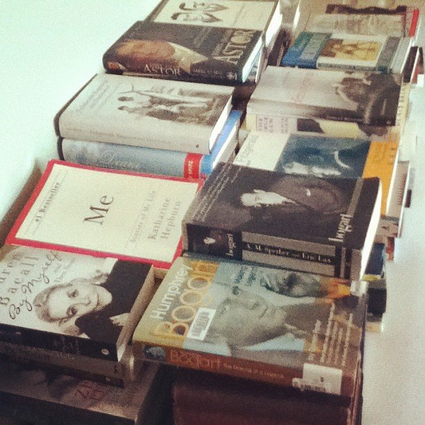 """Got books,"" asked rosemarylavon showing off her collection."
