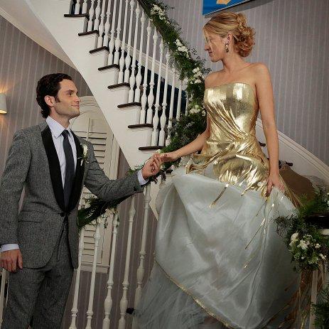 Serena and Dan's Wedding Pictures on Gossip Girl