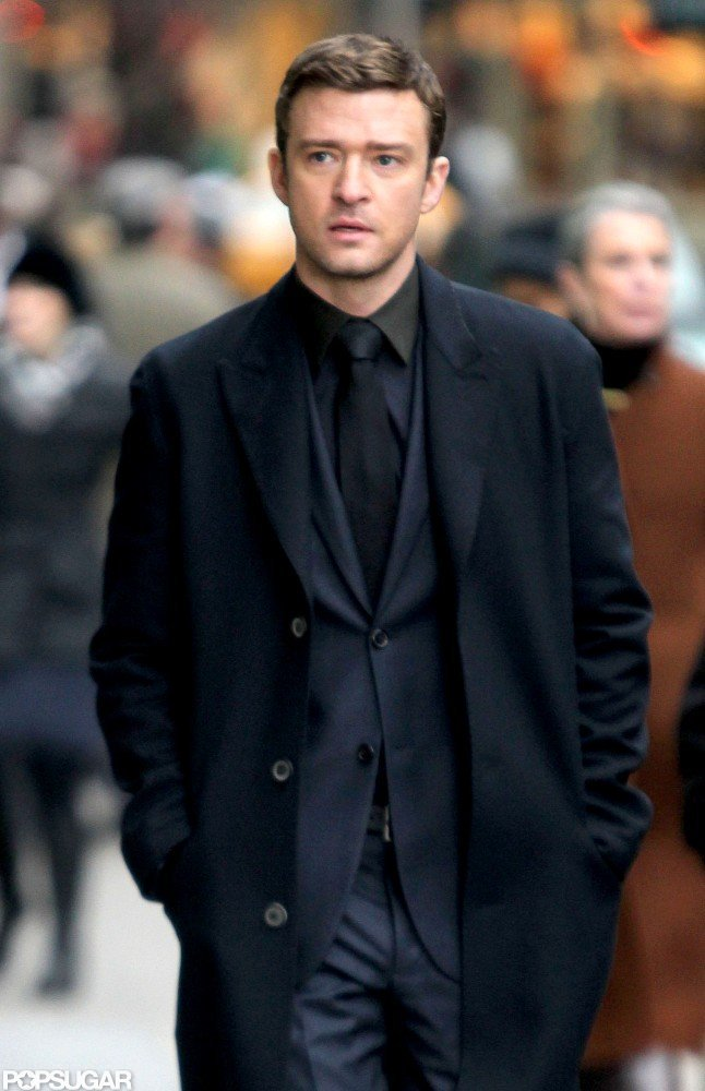 Justin Timberlake walked down the street in NYC.