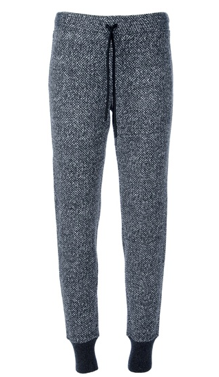 Lounging just got way more awesome in these T by Alexander Wang tweed trousers ($361). Dress them up via a sheer black button-down blouse and booties.