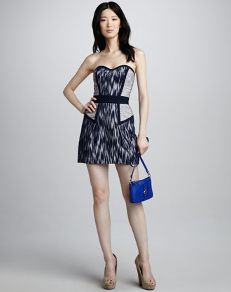 Tweed isn't traditionally sexy, so we appreciate that this Milly strapless tweed dress ($375) has a sassy sweetheart neckline. It certainly isn't your average tweed dress.