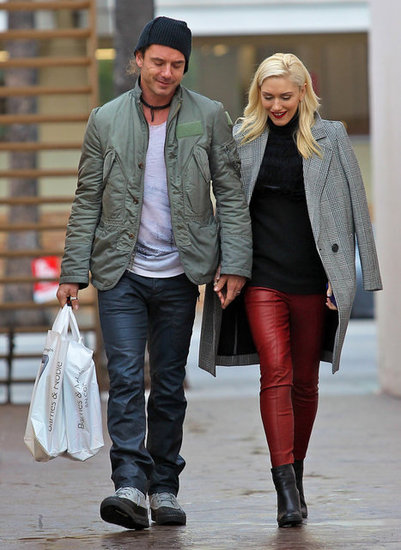 Gavin Rossdale and Gwen Stefani walked hand in hand.