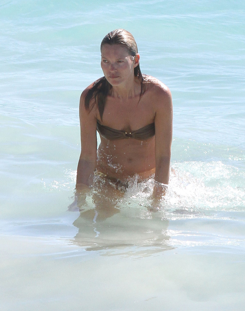 Kate Moss enjoyed her time in the ocean.