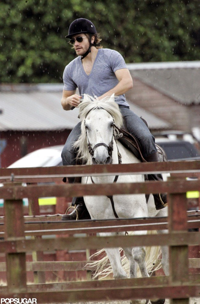 He perfected his horse riding during a Summer trip to London in 2008.