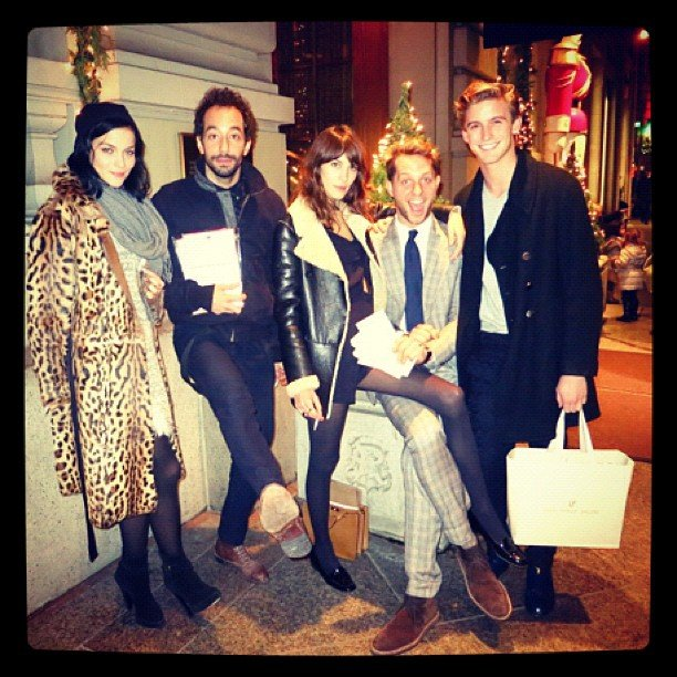 Derek Blasberg partied with Leigh Lezark, Albert Hammond Jr., Alexa Chung, and RJ King at the launch of his stationery line. Source: Twitter user DerekBlasberg