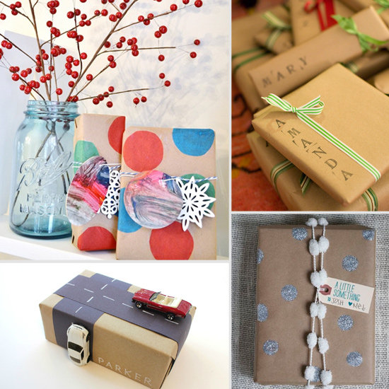Cute christmas gift wrap ideas popsugar moms Cute homemade christmas gifts