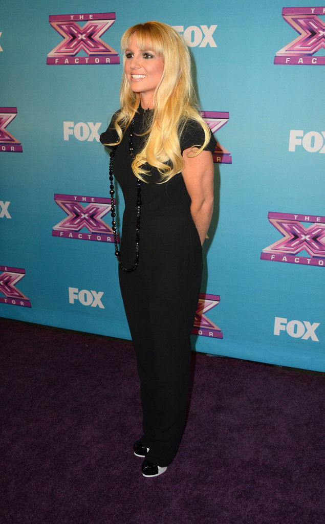 Britney Spears at The X Factor finale.