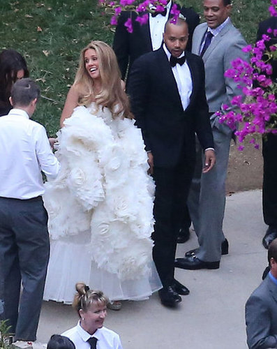 CaCee Cobb and Donald Faison looked flawless at their December 2012 nuptials in LA, where Jessica Simpson was the maid of honor.