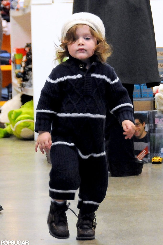 Skyler Berman shopped with his mom.