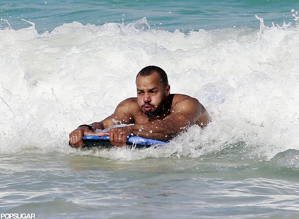 Donald Faison caught a wave.