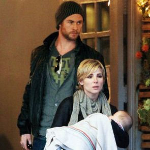 Chris Hemsworth With His Wife and India in Santa Monica