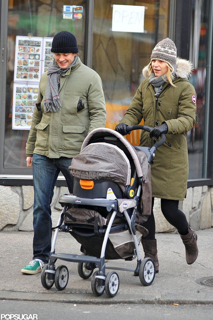 Claire Danes and Hugh Take Baby Cyrus For a Holiday Stroll