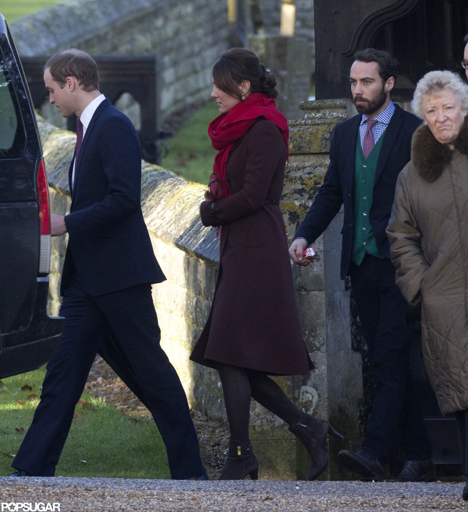 Pregnant Kate Middleton and Prince William Step Out For Christmas Mass