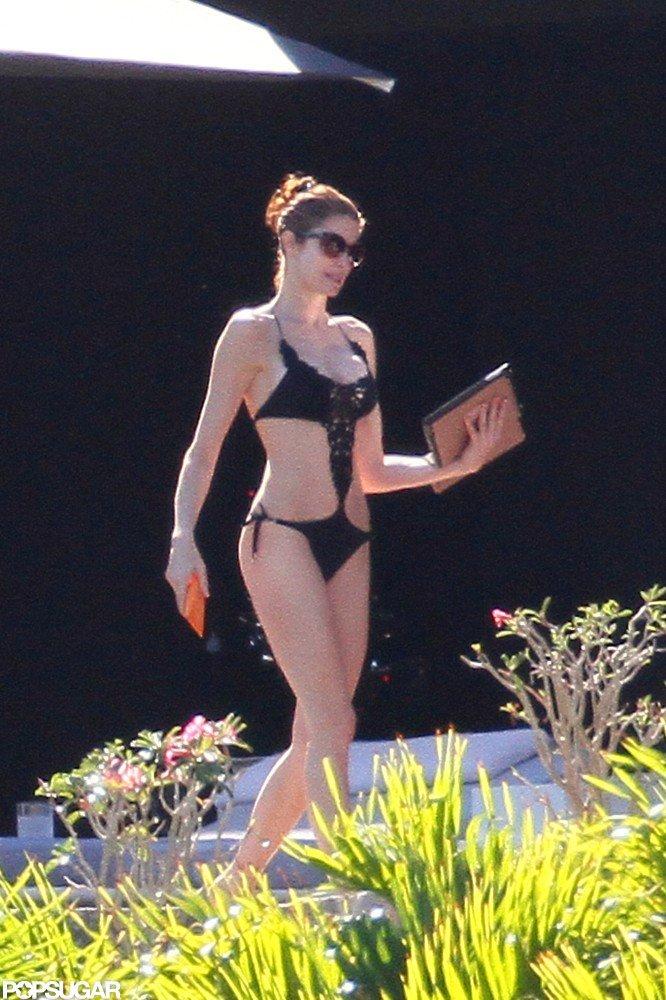 Stephanie Seymour Parades Bikinis in St. Barts With Her Kids