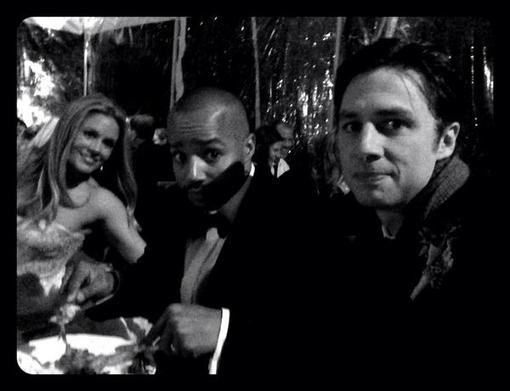 Zach Braff shared a sweet snap from CaCee Cobb and Donald Faison's wedding. Source: Twitter user zachbraff