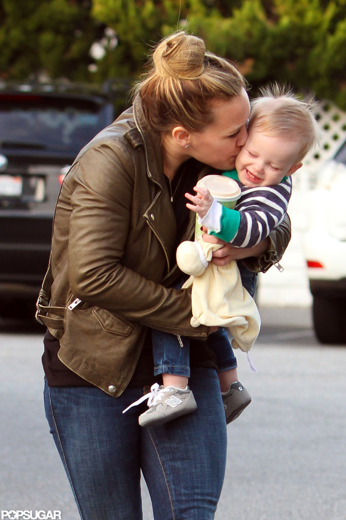 Hilary Duff Shows Luca Love While Prepping For His First Holiday