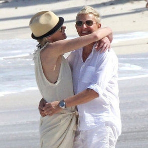 Ellen DeGeneres and Portia de Rossi on Christmas Vacation