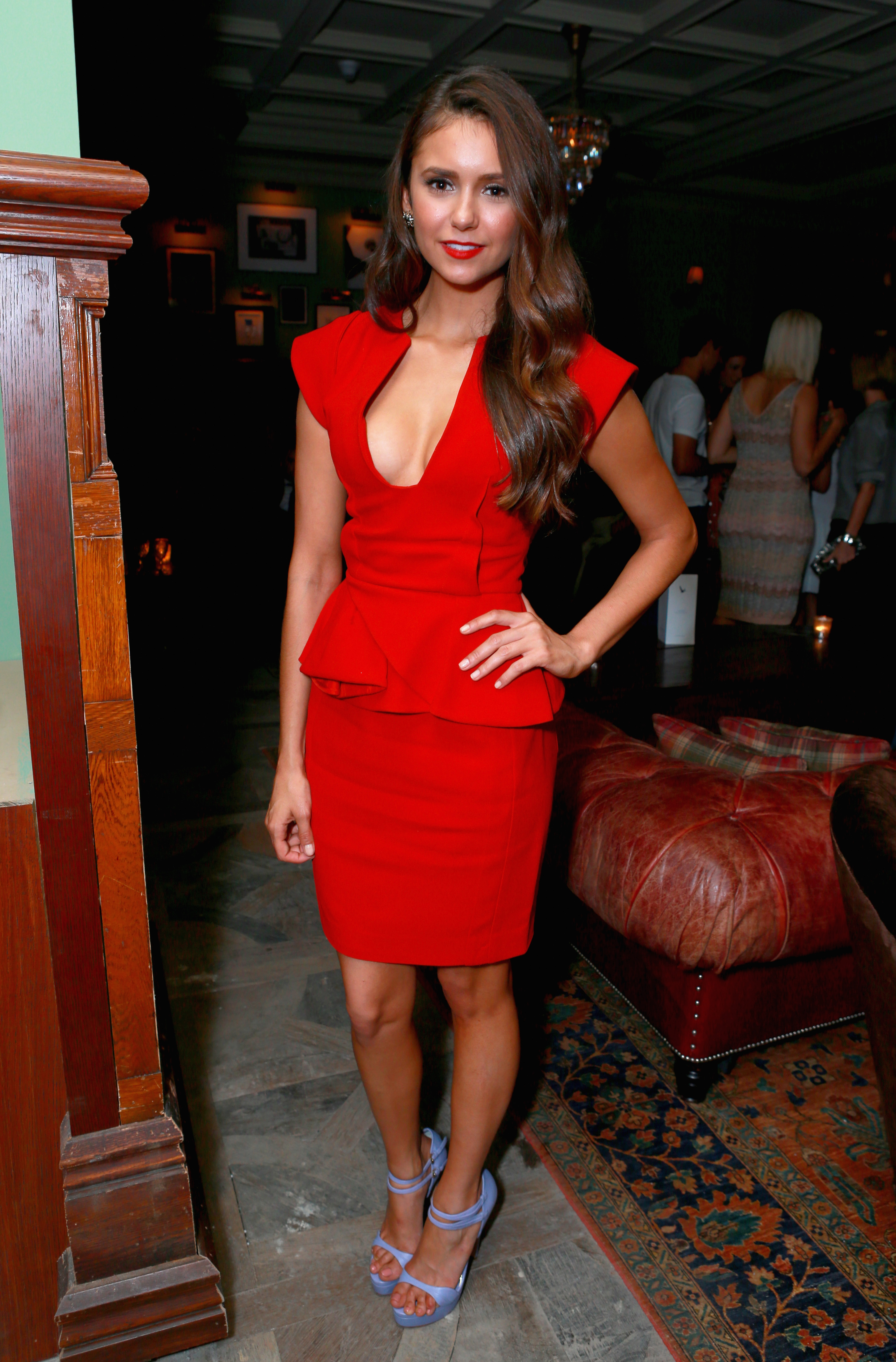 A sexier take for Nina in a red-hot Elie Saab number for the Argo premiere last year.