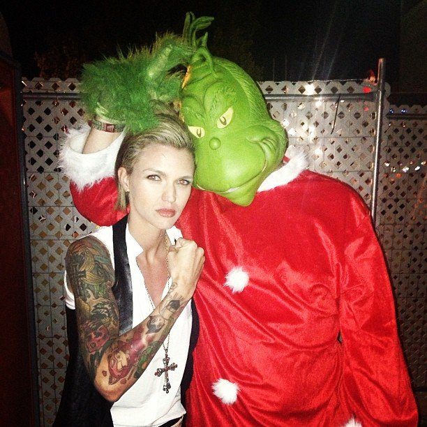 Ruby Rose knocked out the Grinch right before Christmas. Source: Instagram user rubyrose86