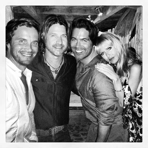 Brian Atwood and his boyfriend celebrated in St. Barts with Rachel Zoe and Rodger Berman.  Source: Instagram user brian_atwood