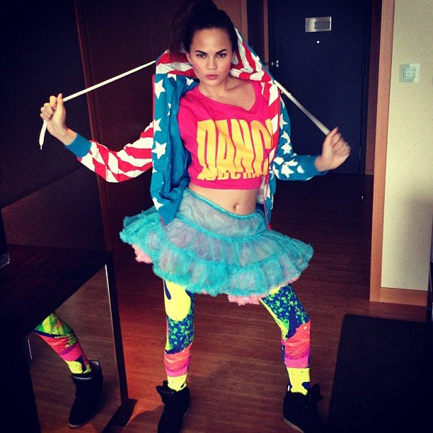 Chrissy Teigen picked up a rather colorful ensemble during her trip to Harajuku. Source: Instagram user chrissy_teigen