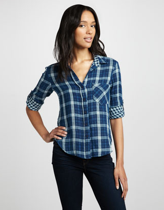 For a casual-cool feel, go with this Bella Dahl plaid blouse ($140). Then wear it over the weekend to run errands in style.