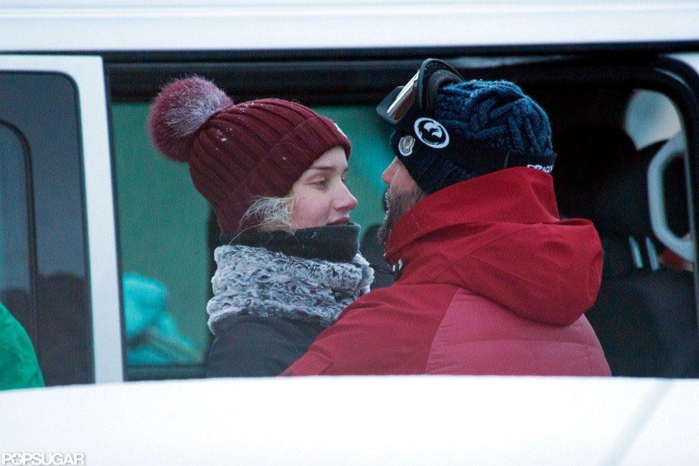 Jason Statham and Rosie Huntington-Whiteley Show PDA on the Slopes