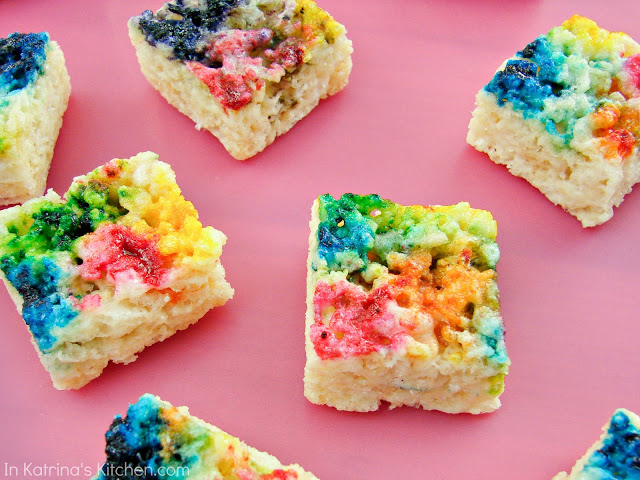 Tie-Dyed Rice Krispie Treats