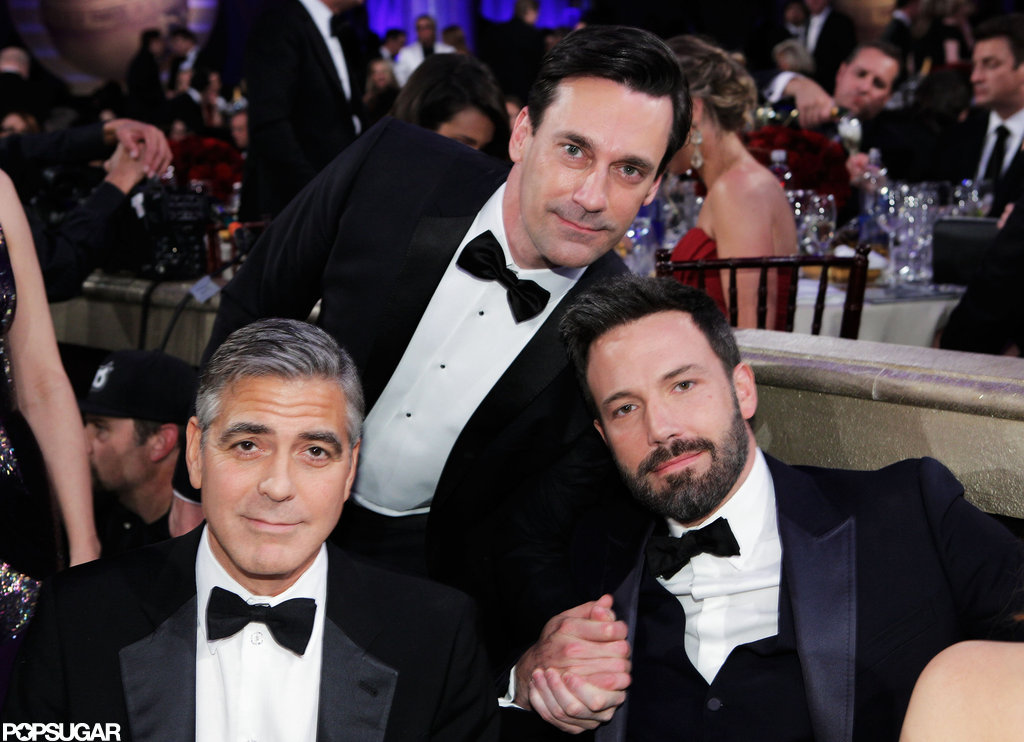 Jon Hamm, George Clooney, and Ben Affleck all posed together at the Golden Globe Awards.