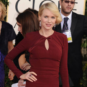 Naomi Watts and Liev Schreiber at 2013 Golden Globes