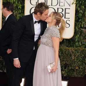 Pregnant Kristen Bell Pictures at 2013 Golden Globes
