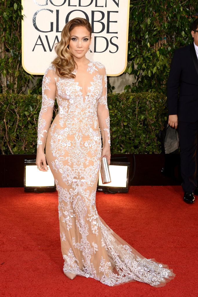Jennifer Lopez proved that mamas still have sex appeal, wearing a Zuhair Murad lace-embroidered gown.