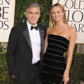 George Clooney and Stacy Keibler at 2013 Golden Globes