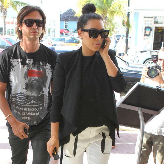 Kim Kardashian Wearing White Pants
