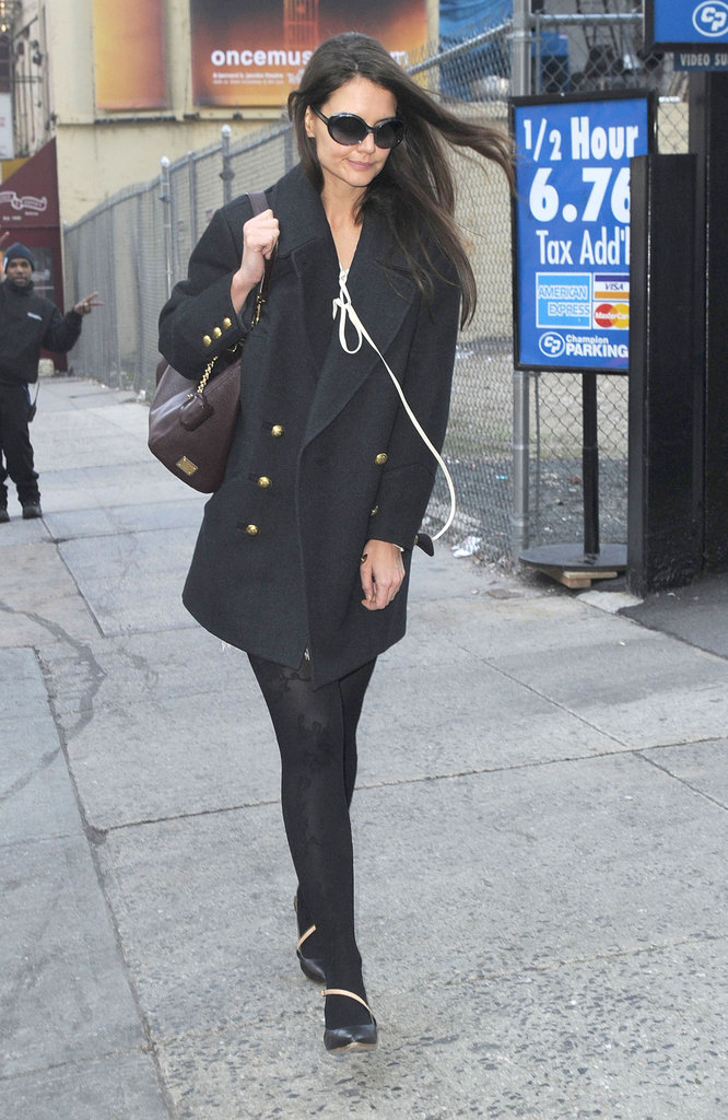 Katie Holmes was seen out in NYC.