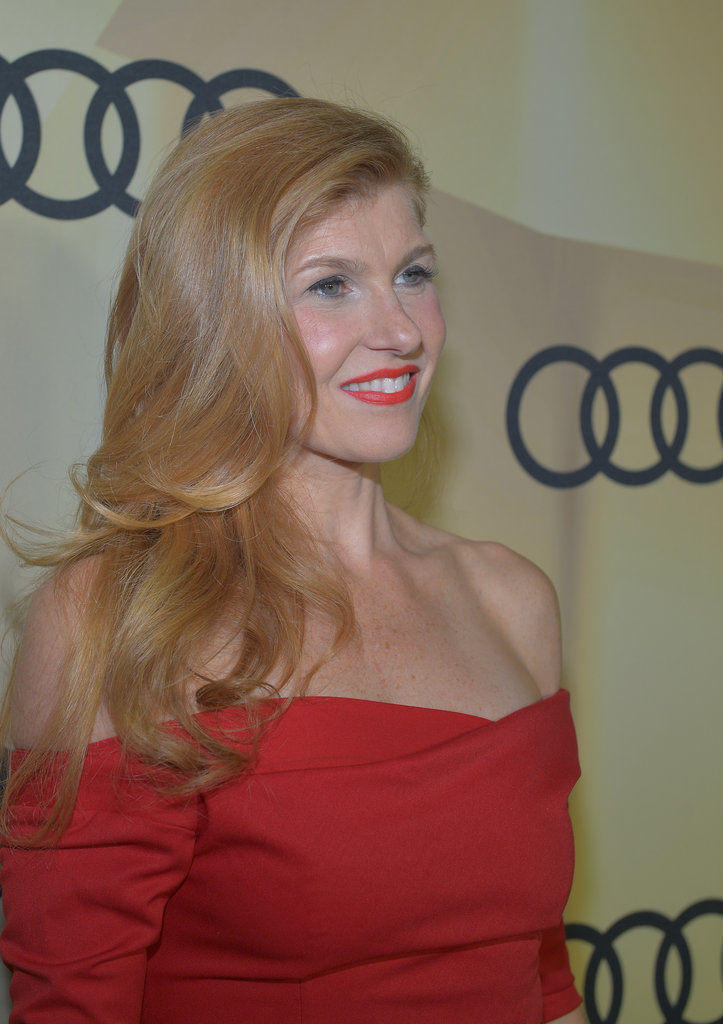Connie Britton wore red to the LA bash.
