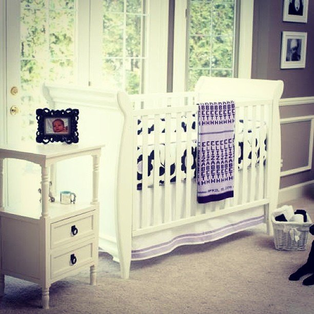 A Soothing Gray and Purple Nursery