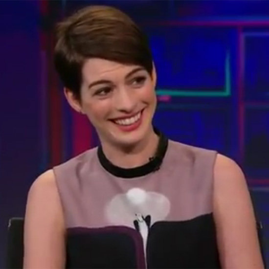 Anne Hathaway Laughing Talking Les Mis Blooper Video