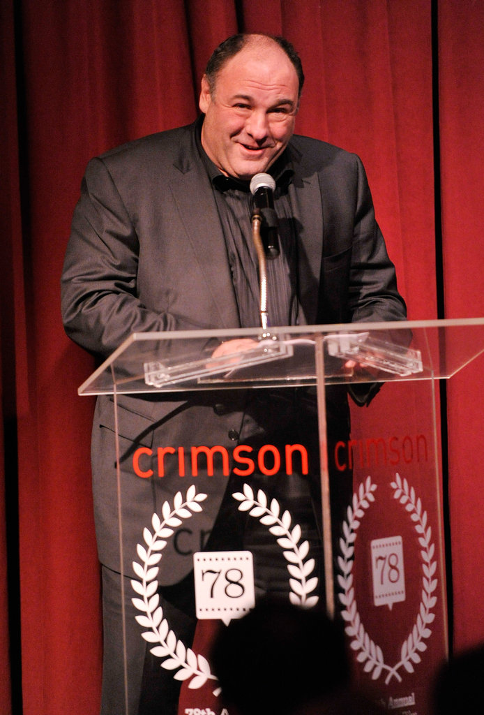 James Gandolfini spoke onstage.