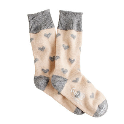 Don't let looks deceive you. These dainty Corgi cashmere heart socks ($98) are super warm and how cute would they look peeking out from a pair of cropped wool trousers?